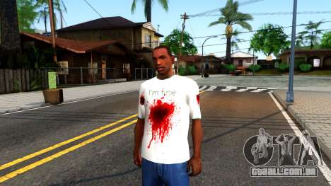 White I am Fine T-Shirt para GTA San Andreas