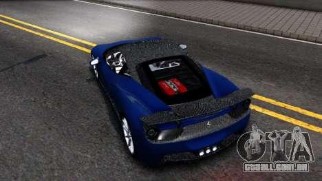 Ferrari 458 Italia Tune para GTA San Andreas traseira esquerda vista