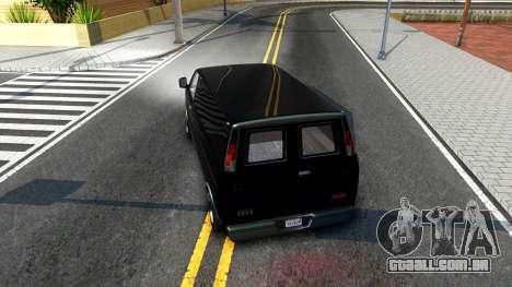 GTA V Declasse Burrito para GTA San Andreas vista direita