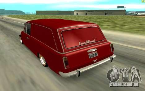 VAZ 2102 para GTA San Andreas traseira esquerda vista