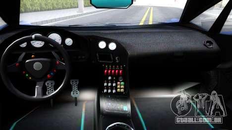GTA V Pegassi Lampo para GTA San Andreas vista interior