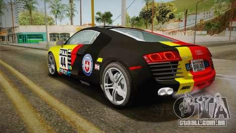 Audi R8 Coupe 4.2 FSI quattro US-Spec v1.0.0 v4 para GTA San Andreas interior