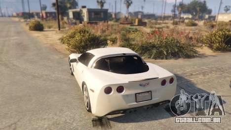 GTA 5 Chevrolet Corvette C6 Z51 traseira vista lateral esquerda