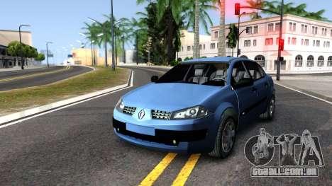 Renault Megane Sedan para GTA San Andreas vista direita