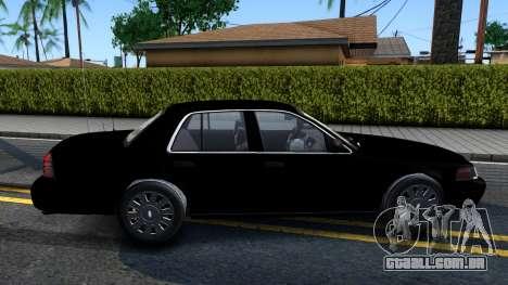 Ford Crown Victoria OHSP Unmarked 2010 para GTA San Andreas traseira esquerda vista