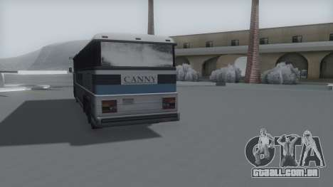 Bus Winter IVF para GTA San Andreas traseira esquerda vista