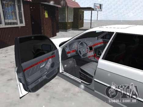 BMW 740I para GTA San Andreas vista direita