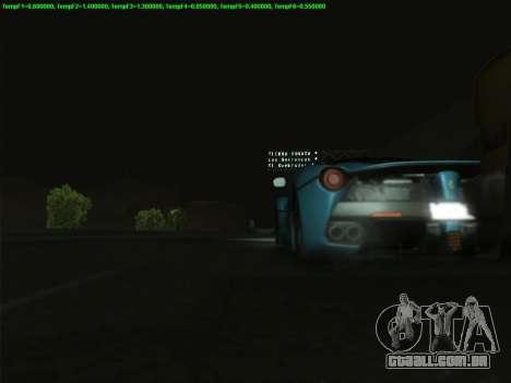LaFerrari 2017 para GTA San Andreas interior