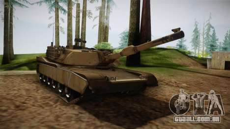 Abrams Tank para GTA San Andreas vista direita