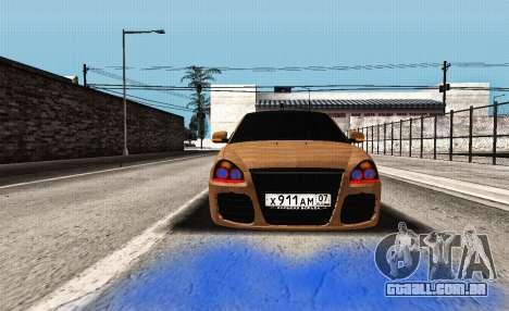 Lada Priora Tuning para GTA San Andreas vista traseira