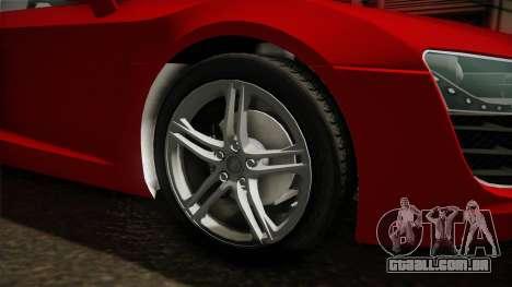 Audi R8 Coupe 4.2 FSI quattro EU-Spec 2008 YCH2 para GTA San Andreas vista traseira