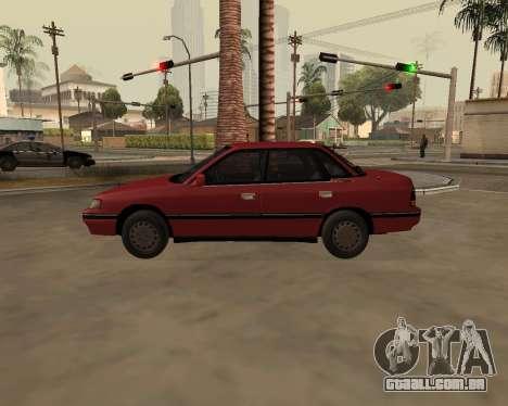 Subaru Legacy 1992 para GTA San Andreas esquerda vista