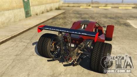 GTA 5 Raptor Car v2 traseira vista lateral esquerda