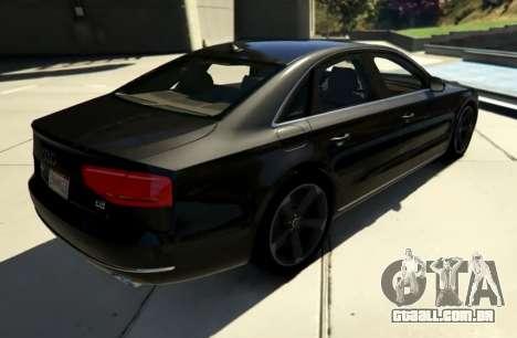 GTA 5 2010 Audi A8 FSI v4.0 traseira vista lateral esquerda