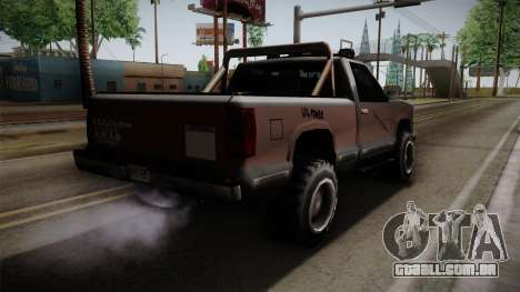 Yosemite Off-Road para GTA San Andreas esquerda vista