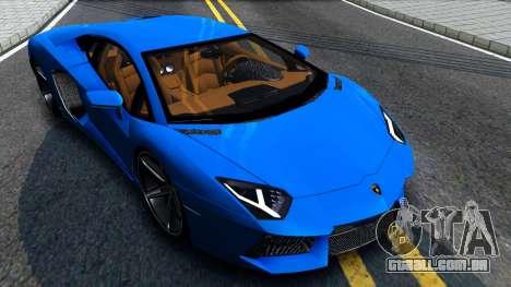 Lamborghini Aventador LP700-4 Light Tune para GTA San Andreas vista direita