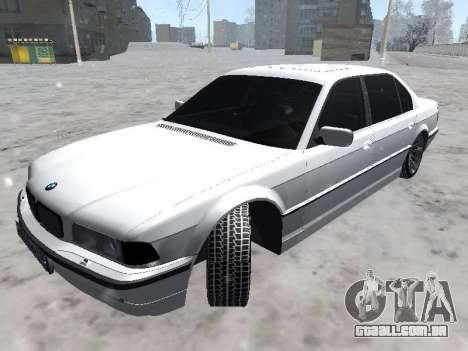 BMW 740I para GTA San Andreas traseira esquerda vista