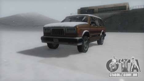 Landstalker Winter IVF para GTA San Andreas vista direita