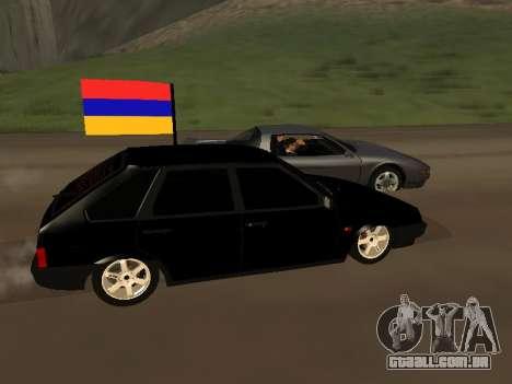 VAZ 2109 Armenian para GTA San Andreas esquerda vista