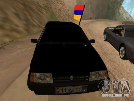 VAZ 2109 Armenian para GTA San Andreas vista traseira