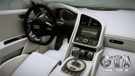 Audi R8 Coupe 4.2 FSI quattro EU-Spec 2008 YCH2 para GTA San Andreas vista interior