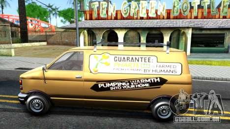 GTA V Declasse Burrito Commercial para GTA San Andreas esquerda vista