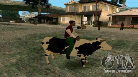 Andando na vaca para GTA San Andreas segunda tela