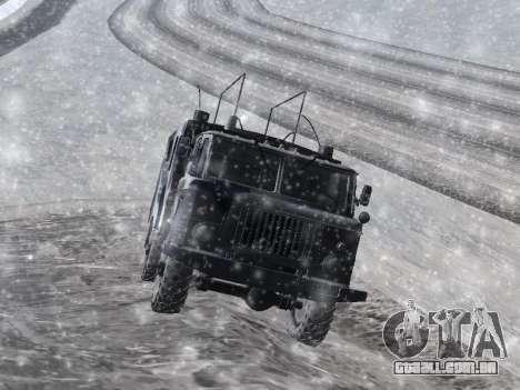 GAZ-66 para GTA San Andreas traseira esquerda vista