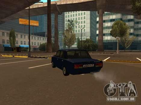 2107 (um Projeto do gabarito Contra Todos) para GTA San Andreas traseira esquerda vista