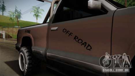 Yosemite Off-Road para GTA San Andreas vista traseira