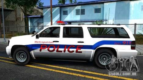 Declasse Granger Metropolitan Police 2012 para GTA San Andreas esquerda vista