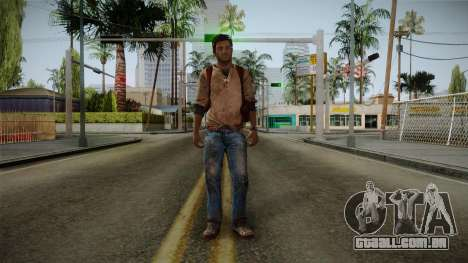 Uncharted Golden Abyss - Nathan Drake para GTA San Andreas segunda tela