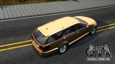 GTA V Benefactor Schafter Wagon para GTA San Andreas vista traseira