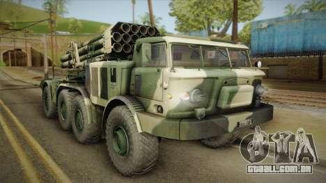 BM-27 Uragan (9P140) para GTA San Andreas
