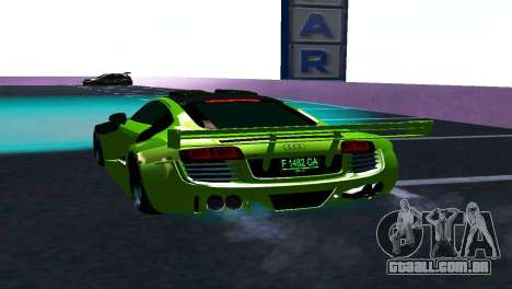 AUDI R8 LMS SPORTS para GTA San Andreas vista direita