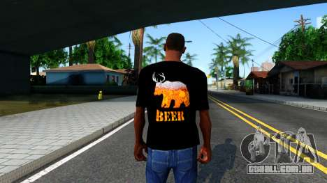 Black Beer T-Shirt para GTA San Andreas terceira tela