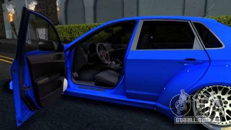 Subaru WRX STi Widebody para GTA San Andreas vista traseira