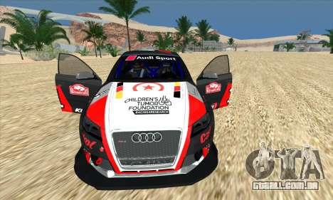 Audi RS3 Sportback Rally WRC para GTA San Andreas vista inferior
