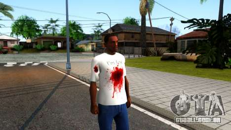 White I am Fine T-Shirt para GTA San Andreas segunda tela