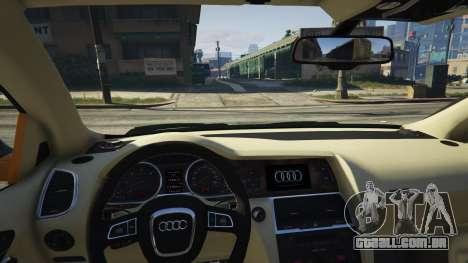 GTA 5 2009 Audi Q7 AS7 ABT vista lateral direita