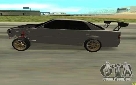 Toyota Chaser TOURER V para GTA San Andreas esquerda vista