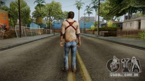 Uncharted Golden Abyss - Nathan Drake para GTA San Andreas terceira tela