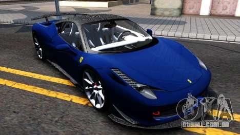 Ferrari 458 Italia Tune para GTA San Andreas