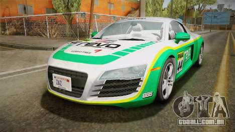 Audi R8 Coupe 4.2 FSI quattro US-Spec v1.0.0 v4 para vista lateral GTA San Andreas