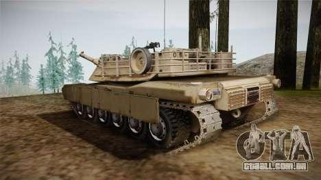 Abrams Tank para GTA San Andreas esquerda vista