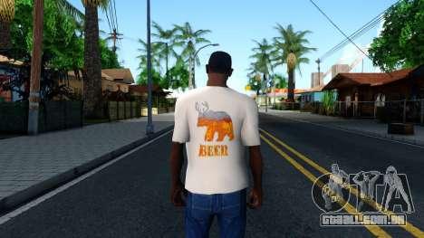 White Beer T-Shirt para GTA San Andreas terceira tela