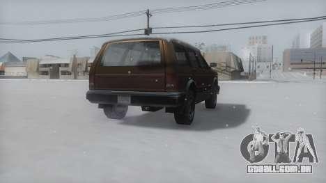 Landstalker Winter IVF para GTA San Andreas traseira esquerda vista