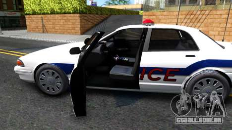 Vapid Stanier Metropolitan Police 2009 para GTA San Andreas vista interior