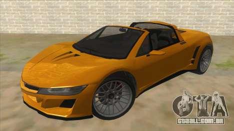 GTA V Dynka Jester Spider para GTA San Andreas vista traseira