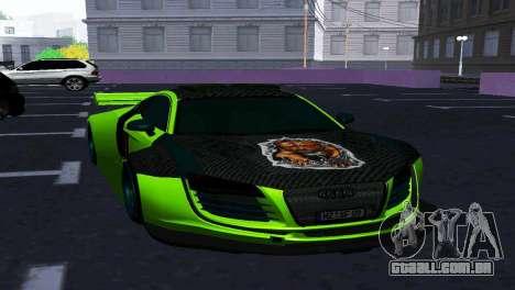 AUDI R8 LMS SPORTS para GTA San Andreas vista traseira